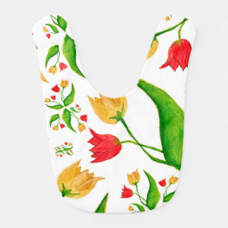 Tulips [childhood diary] baby bib