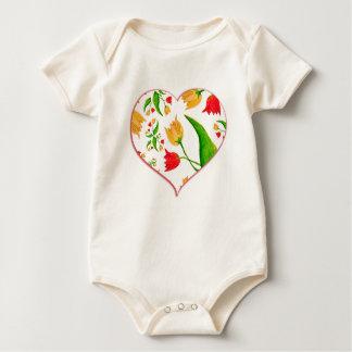 Tulips [childhood diary] baby bodysuit