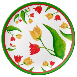 Tulips [childhood diary] porcelain plate