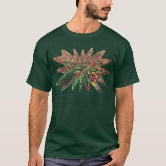 Tulips Collapsing Design Dark Green Shirt