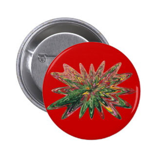 Tulips Collapsing Design Round Red Button