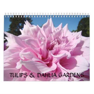 TULIPS & DAHLIA GARDENS Calendar Gift Office Boss