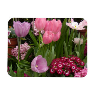 Tulips Daisies Hyacinths Magnet