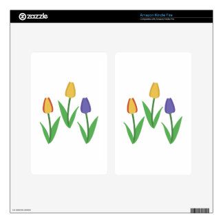 Tulips Decal For Kindle Fire