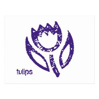 Tulips Deep Blue Tulip Postcard
