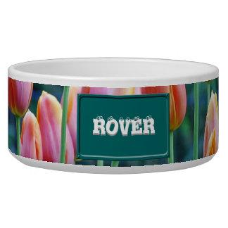 Tulips Dog Food Bowls