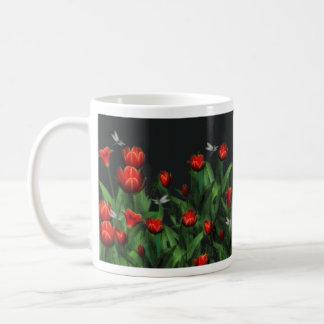 Tulips & Dragonflies Coffee Mug #3