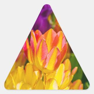 Tulips Enchanting 16 Triangle Sticker