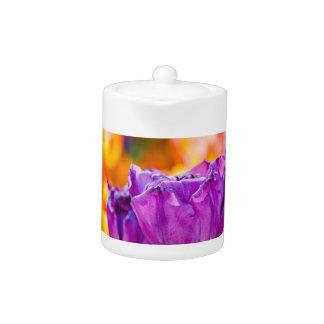 Tulips Enchanting Purple Teapot