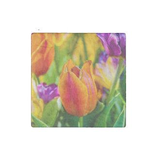 Tulips Enchanting Stone Magnet
