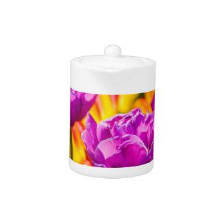 Tulips Enchanting Violet Teapot