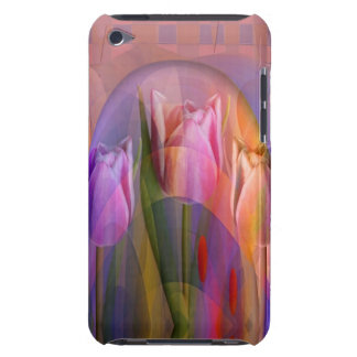 Tulips festival, artistic mixed media barely there iPod case