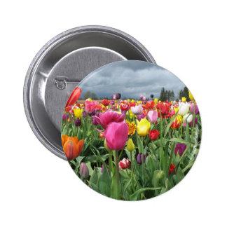 Tulips Field Pinback Button