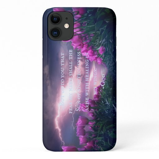 Tulips Field Malachi 4:2 iPhone 11 Case