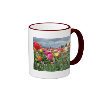 Tulips Field Ringer Mug