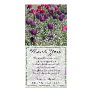 Tulips Field Sympathy Thank You Photo card