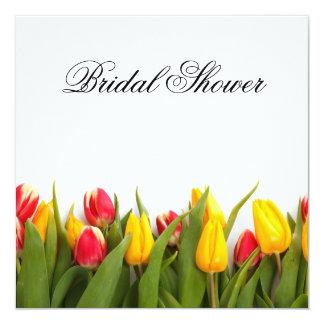 Tulips Floral Bridal Shower Invitation