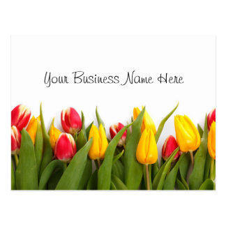 Tulips Floral Gift Certificate Postcard