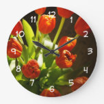 Tulips Floral Wall Clock