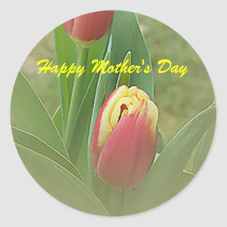 Tulips Flower Happy Mother's Day Sticker