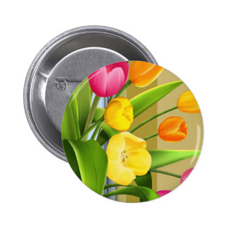 Tulips Flower Spring Vector Picture add text Buttons