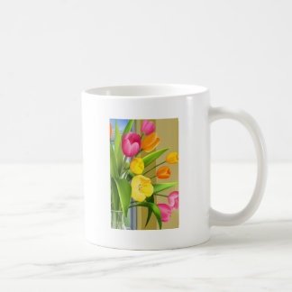 Tulips Flower Spring Vector Picture add text Coffee Mug