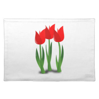 Tulips Flower Trio American MoJo Placemat