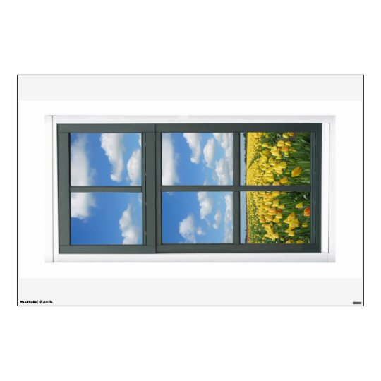 Tulips Flowers Fl Fake Window View Wall Decal
