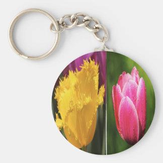 Tulips Flowers Keychain