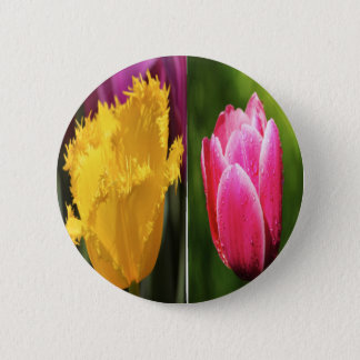 Tulips Flowers Pinback Button