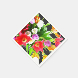 Tulips Flowers Disposable Napkins