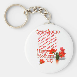 Tulips for Mother s Day For Grandmum PhotoFrame Key Chains