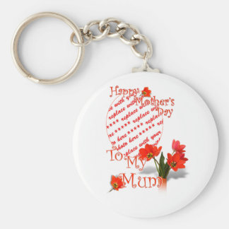 Tulips for Mother s Day For Mum Photo Frame Key Chain