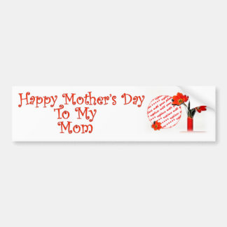 Tulips for Mother's Day Car Bumper Sticker