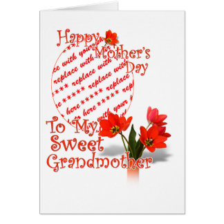 Tulips for Mother's Day For Grandmother PhotoFrame Card