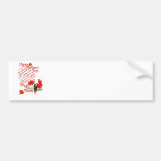 Tulips for Mother's Day For Mom Photo Frame Car Bumper Sticker