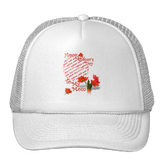 Tulips for Mother's Day For Mom Photo Frame Trucker Hat