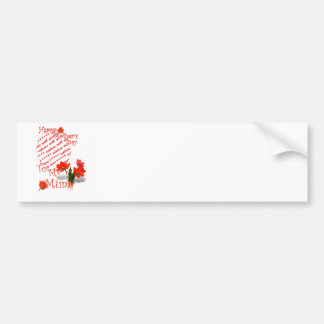 Tulips for Mother's Day For Mum Photo Frame Car Bumper Sticker