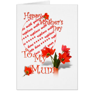 Tulips for Mother's Day For Mum  Photo Frame Greeting Card