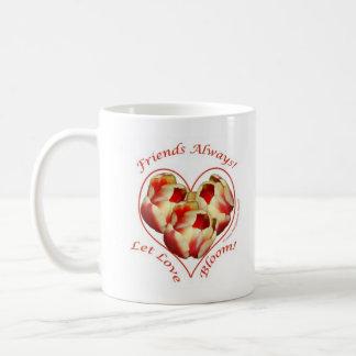 Tulips, friends, mug
