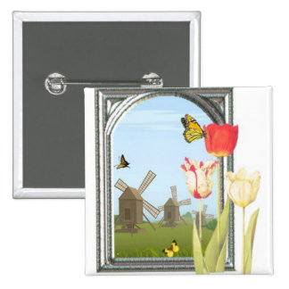 Tulips from Amsterdam Pinback Button