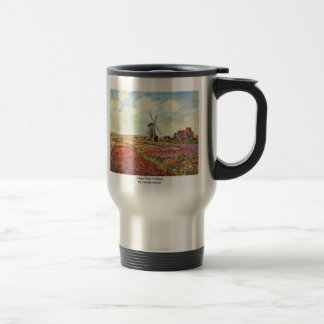 Tulips From Holland By Claude Monet 15 Oz Stainless Steel Travel Mug