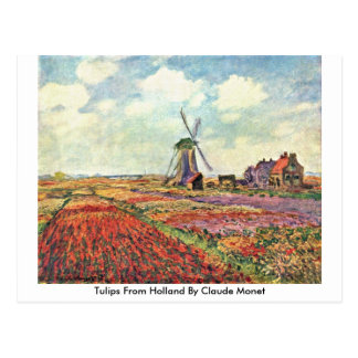 Tulips From Holland By Claude Monet Postcard