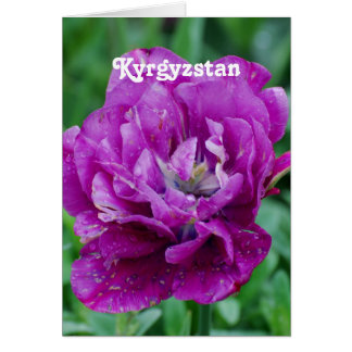 Tulips from Kyrgyzstan Stationery Note Card