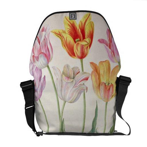 Tulips, from the 'Nassau Florilegium' (w/c on pape Messenger Bag