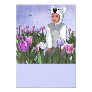 Tulips garden 5x7 paper invitation card