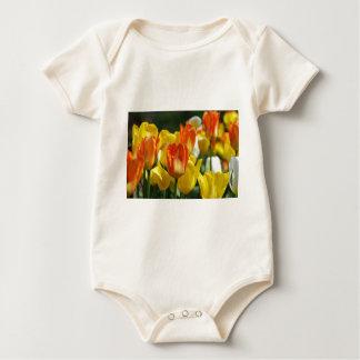 Tulips garden baby bodysuit