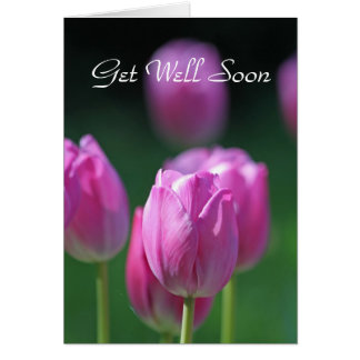 Tulips 'Get Well Soon' card