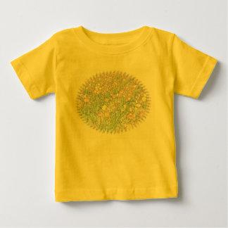 Tulips Hand Drawing Yellow Baby T-Shirt