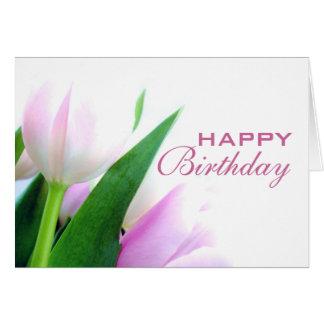 Tulips Happy Birthday Card